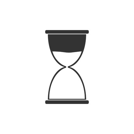 Hourglass, sand time icon flat vector Illustration