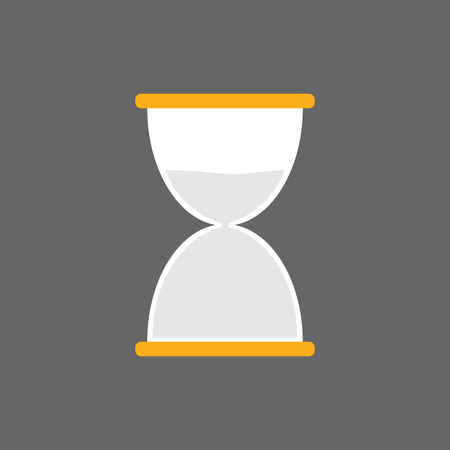 Hourglass, sand time icon flat