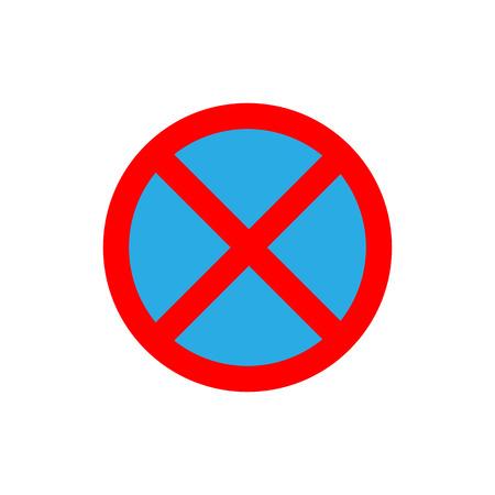 Vector illustration, flat design. no parking sign