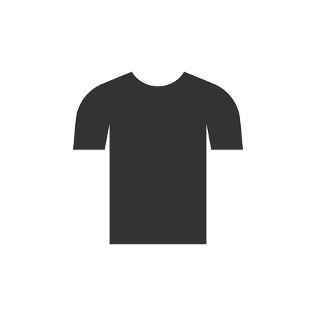 Vector illustration, flat design. Clothes t shirt icon