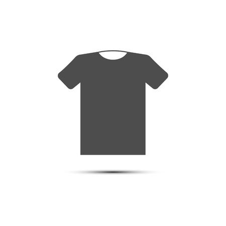 Vector illustration, flat design. Clothes t shirt icon