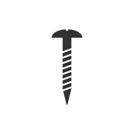 Vector illustration, flat design. Hardware screw icon