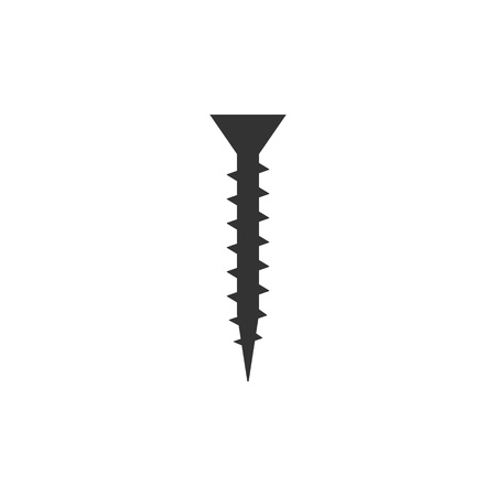 Vector illustration, flat design. Hardware screw icon
