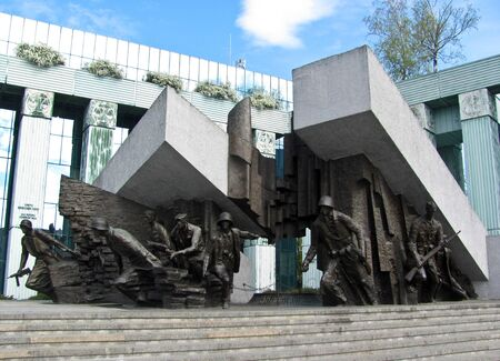 Warsaw, Poland - April 21, 2019: Warsaw Uprising Monument in Warsaw city. Sajtókép