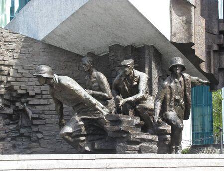 Warsaw, Poland - April 21, 2019: Warsaw Uprising Monument in Warsaw city.