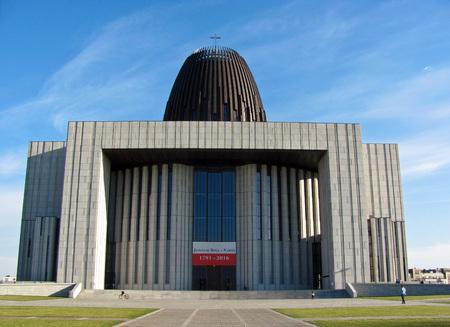 Die römisch-katholische Kirche des Zentrums der göttlichen Vorsehung. Warschau.
