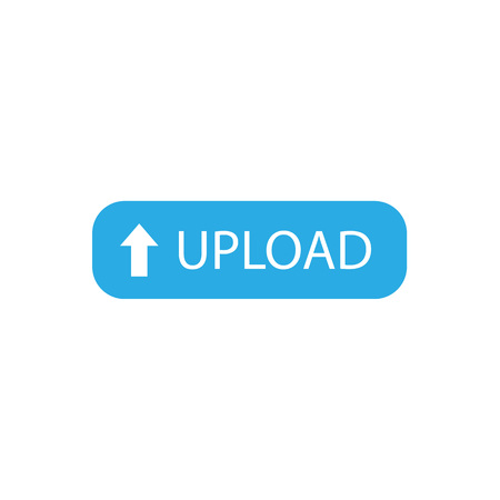 upload button template, banner Vector illustration