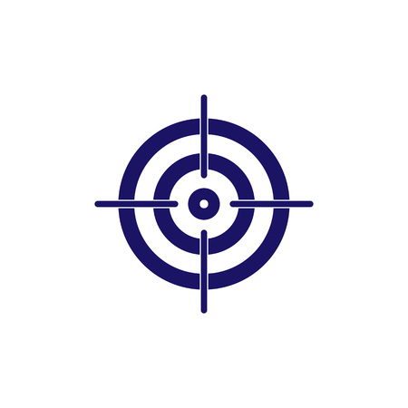 Vector illustration, flat design. Bow, center focus target icon