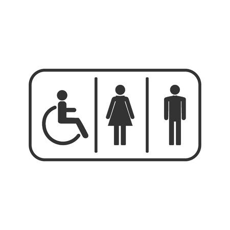 WC symbol, toilet, people icon Vector illustration flat