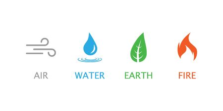 Four elements symbol. Vector illustration flat Ilustrace