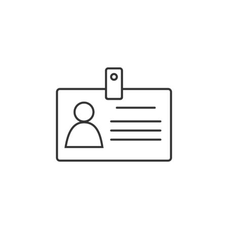 ID card Icon. Vector illustration, flat design.