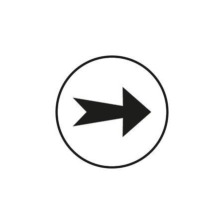 Arrow, forward icon Vector illustration flat