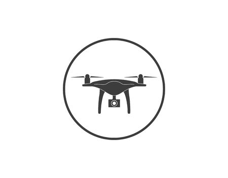Vector illustration, flat design. Drone quadcopter icon Stock Illustratie