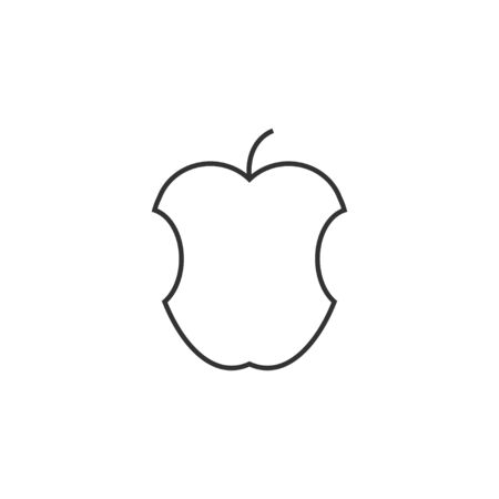 Vector illustration, flat design. Apple fruit icon