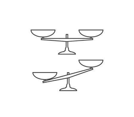 Balance scale icon. Vector illustration flat