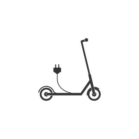 scooter, transportation icon Vector illustration, flat design.