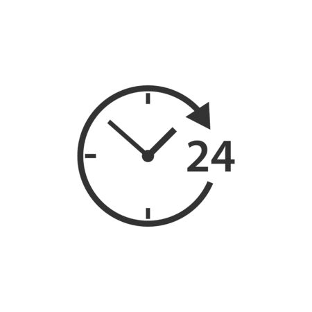 Vector illustration, flat design. 24, assistance customer support shopping icon