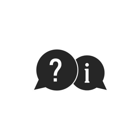Vector illustration, flat design. Question answer icon