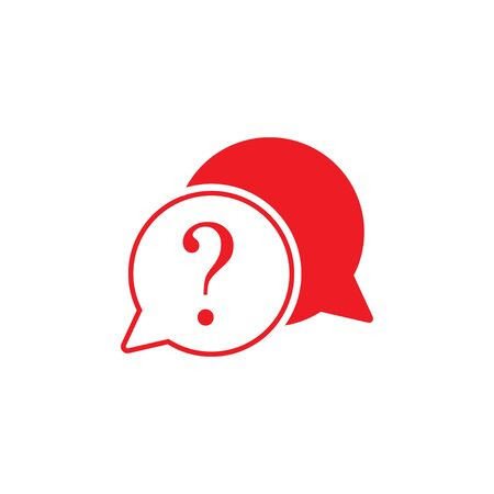 Help, query, question mark support icon Vector illustration Ilustrace