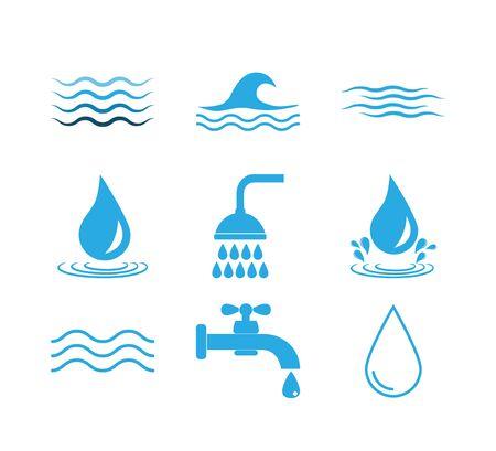 Vector illustration, flat design water Archivio Fotografico - 131230747