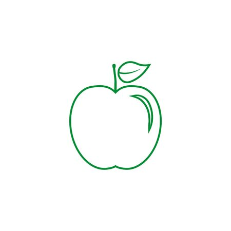 Vector illustration, flat design. Apple fruit icon Archivio Fotografico - 131230812
