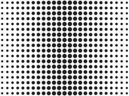 Halftone, circles dots transition pattern Vector 일러스트