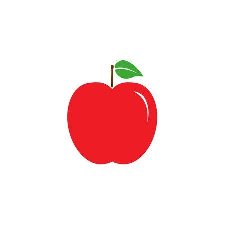 Vector illustration, flat design. Apple fruit icon Banque d'images - 131230073