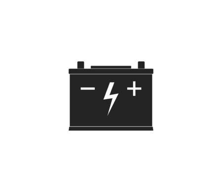 Vector illustration, flat design. Car battery icon Banque d'images - 131230259