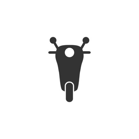 Motorcycle, transport icon Vector illustration, flat design.