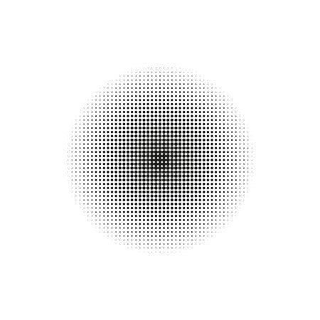 Halftone, circles dots transition pattern Vector Ilustração