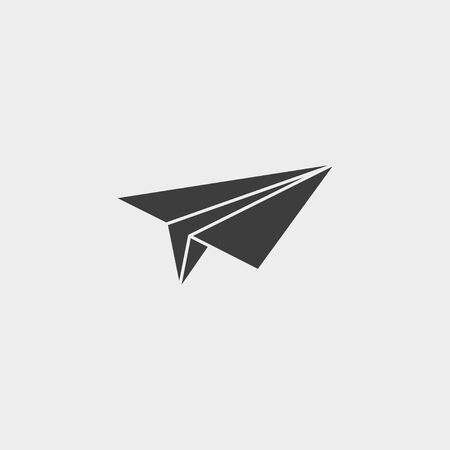 Vector illustration, flat design. Paper airplane icon. Stock Illustratie