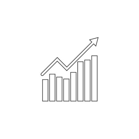 Vector illustration, flat design. Graph chart icon Ilustrace