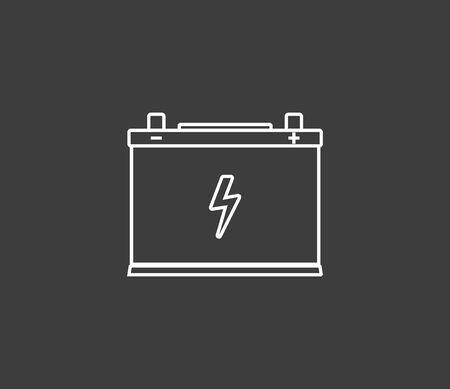 Vector illustration, flat design. Car battery icon Banque d'images - 131229288