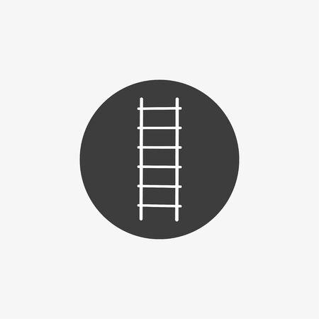 Vector illustration, flat design. Ladder Stairs icon Çizim