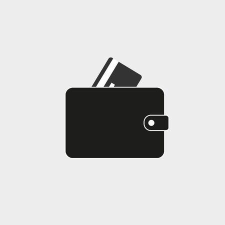 Vector illustration, flat design. Billfold purse wallet icon 일러스트