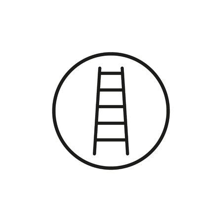 Vector illustration, flat design. Ladder Stairs icon Illustration