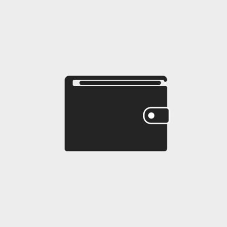 Vector illustration, flat design. Billfold purse wallet icon Иллюстрация