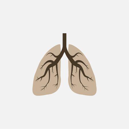 Vector illustration, flat design. Lungs medical icon Illustration