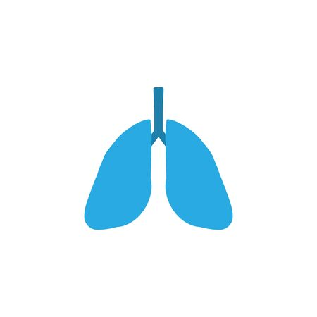 Vector illustration, flat design. Lungs medical icon Ilustrace