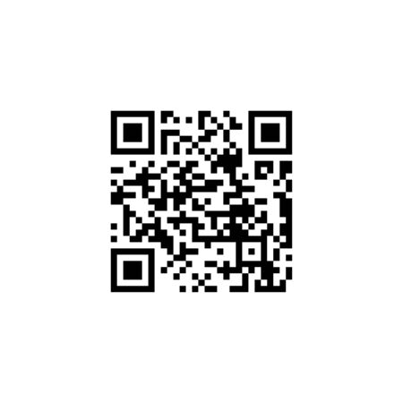 Vector illustration, flat design. QR Code icon
