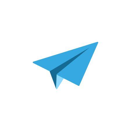 Vector illustration, flat design. Paper airplane icon. Archivio Fotografico - 131578419