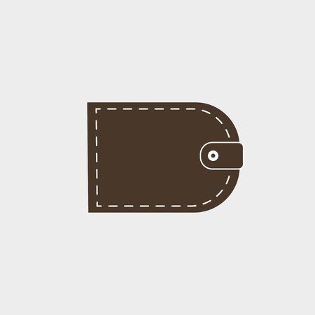 Vector illustration, flat design. Billfold purse wallet icon Illusztráció
