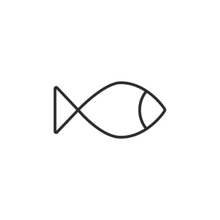 Vector illustration, flat design. Fish food sea icon Çizim