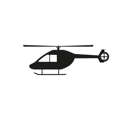 Helicopter, chopper icon Vector illustration flat