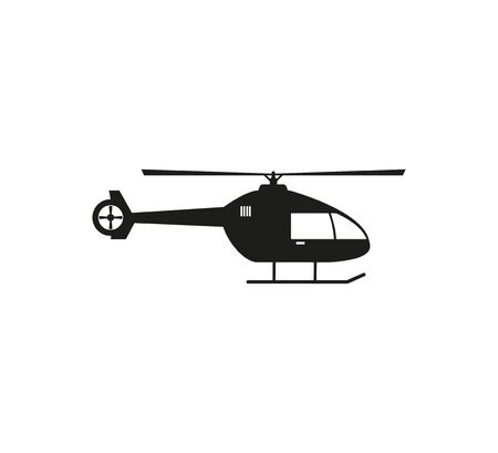 Air, helicopter transport icon illustration flat Illusztráció