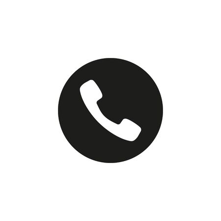 Vector illustration, flat design Phone, call icon. Illusztráció