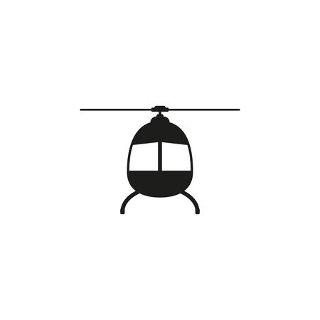 Helicopter, chopper icon Vector illustration flat Illusztráció