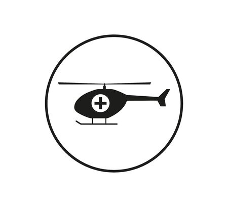 Medical Helicopter icon. Vector illustration flat Ilustração