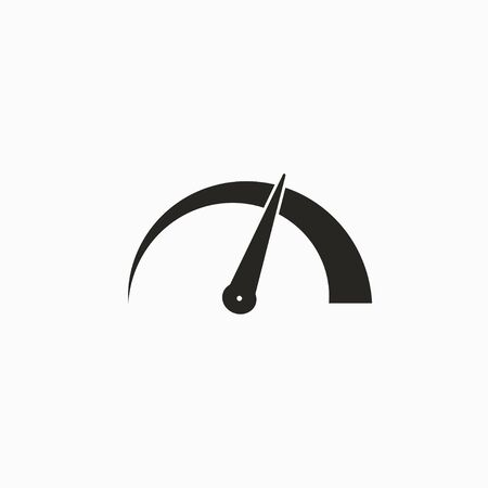 Vector illustration, flat design Speed, speedometer icon