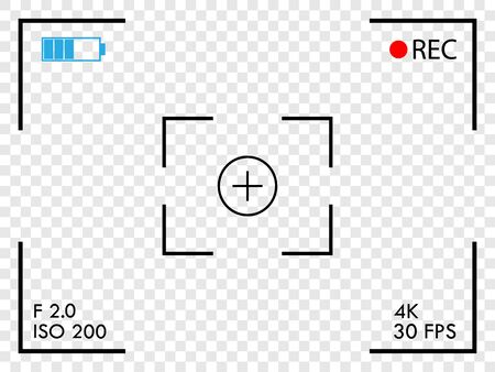Vector illustration, Camera frame viewfinder screen